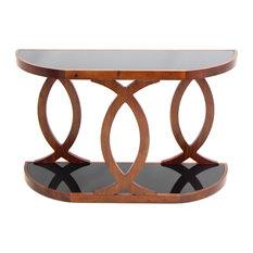 LumiSource   Pesce Console Table, Walnut Veneer   Console Tables