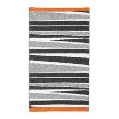 B&W Orange Woven Vinyl Rug, 150x210 cm