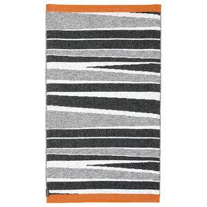 B&W Orange Woven Vinyl Rug, 80x280 cm