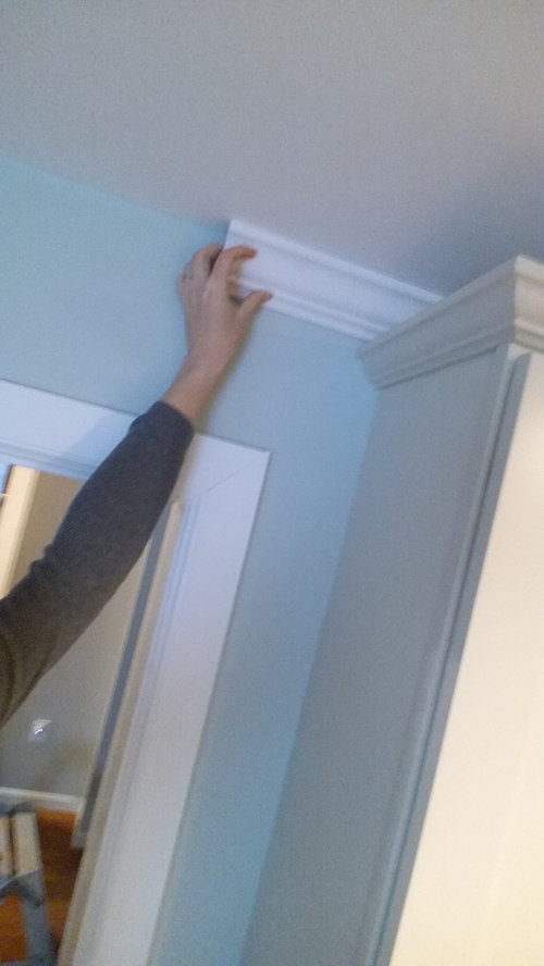 Ending Crown Molding When Can T Go Behind Kitchen Cabinets