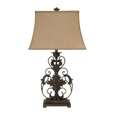 "Sallee Gold Finish 34"" Poly Table Lamp"