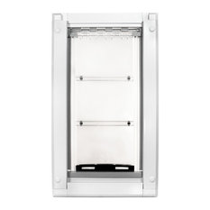 "Endura Flap Pet Door, Wall Mount, Medium Single Flap, White Frame, 8""x15"""