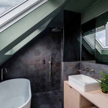Cool and contemporary loft bathroom