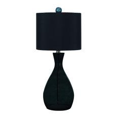 AF Lighting   AF Lighting 8517 Angelo Home Black 1 Light Hand Blown Glass  Table Lamp