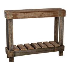 (del)Hutson Designs   Lumberjack Table, Barnwood   Console Tables