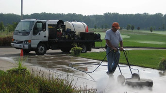 Golf Course Power Washing of Concrete