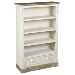 Country Bookcase, 4 Shelves and 1 Drawer
