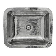 """Nantucket Sinks RES - 17.5"""" Hammered Stainless Steel Rectangle Bar Sink"""