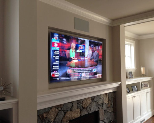 Recessed Led Tv Over Fireplace Amp Surround System
