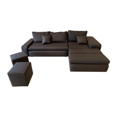 RITMO Sectional Sofa-Bed Brown Right Corner