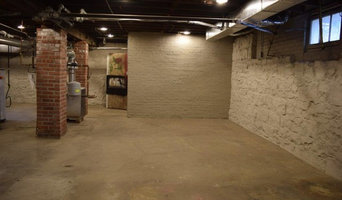 Wood Plank Concrete Overlay for Basement Floor