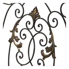 """Rust with Gold Accents 32.25"""" French Fire Screen"""