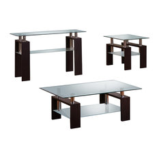 Modern Espresso 2-Piece Coffee and End Table Set