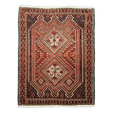 Afshar Persian Rug, Hand-Knotted Classic, 194x152 cm