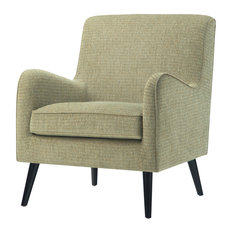 "Dysart 28"" Mid Century Modern Arm Chair, Pear Green Fabric"