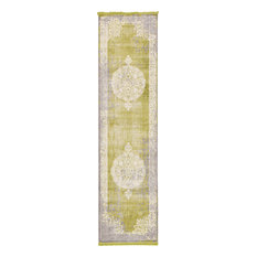 Unique Loom Light Green Olwen New Classical 2' 7 x 10' 0 Runner Rug