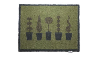 """Growing Together Topiary Eco-Friendly Doormat, 33.5""""x25.6"""""""