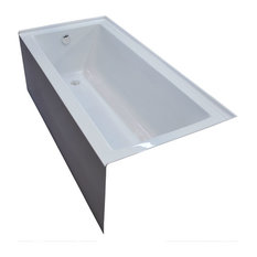 Pontormo 30 x 60 Front Skirted Drop-In Bathtub - Soaker Tub with Left Drain