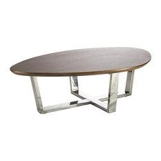 Ninfea Modern Coffee Table, Brown, Small