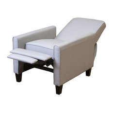 GDFStudio - Hinus Contemporary Smoky Club Chair Recliner Light Gray - Recliner Chairs  sc 1 st  Houzz & Contemporary Recliner Chairs | Houzz islam-shia.org