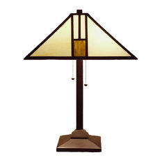 Warehouse Of Tiffany, Inc   Tiffany Style White Mission Style Table Lamp
