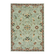 "Dahlia Floral Traditional Blue/ Teal Area Rug, 7'10""x10'10"""
