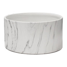 Indoor Ceramic Marble Dish Garden, White Marble, Small