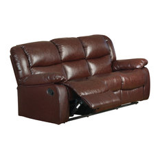 Pilaster Designs   Brooklyn Sofa, Merlot Leather   Sofas