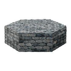 Alexander Hexagon Box in Natural Grey Bone