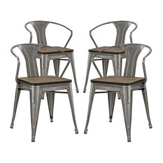 Modway - Promenade Set of 4 Bamboo Dining Chairs - Dining Chairs