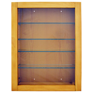 Collection Display Cabinet With 4 Glass Shelves, Natural