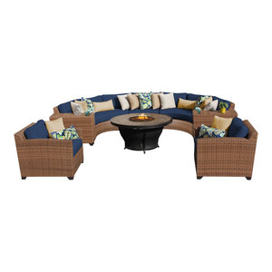 Tuscan Wicker Outdoor 8 Piece Patio Set, Navy By TKClassics Looking For