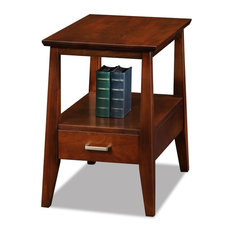 Leick Furniture Delton Solid Wood Square End Table, Sienna