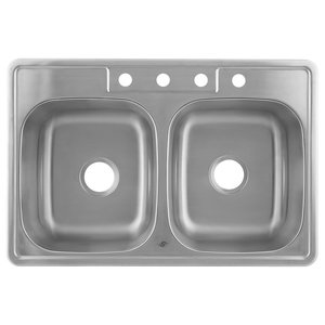 df4b21e781 Undermount Stainless Steel Double Bowl Kitchen Sink - Contemporary ...