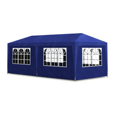 Outdoor Party Tent 10'x20' with 6 Walls, Blue