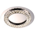 Design Living - Clear Crystal LED Flushmount With Stainless Steel Frame - This LED flush mount is in a chrome finish. The frame is made out of stainless steel with crystal in clear color. The LED light is integrated in the frame. It can be used in any room.