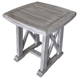 Farmhouse Outdoor Side Tables by Courtyard Casual