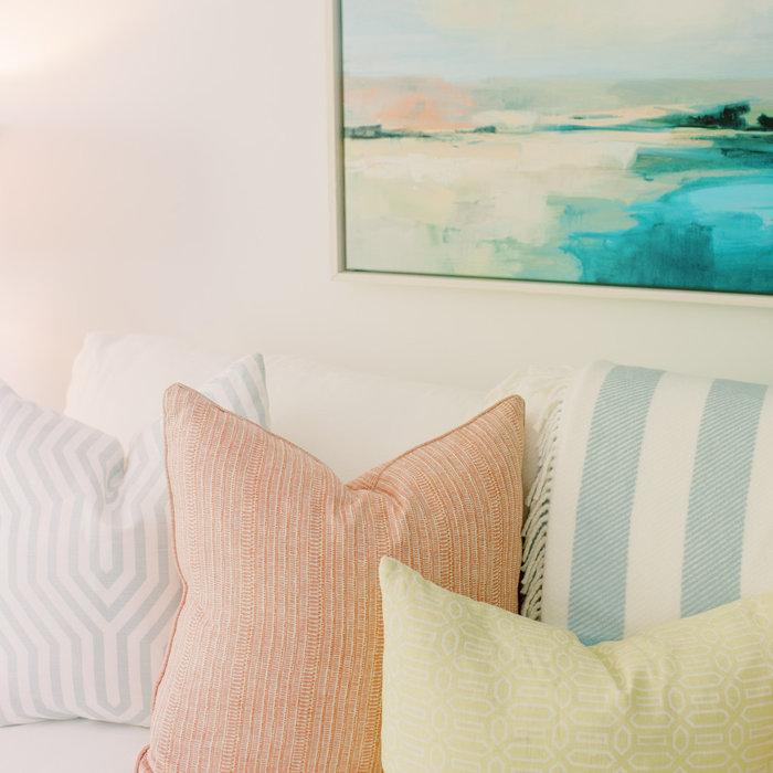 Laura Boyd Interior Design | Old Village Charleston Pool House Pillows