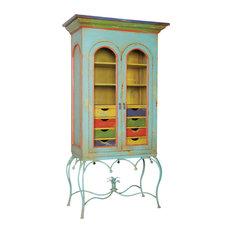 Blue Caravan Display Cabinet, 84.5x43.5