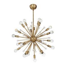 Galea 24 Light Chandelier, Warm Brass