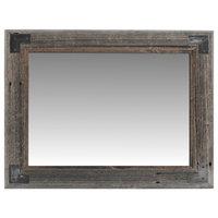 Rustic Bathroom Mirror, Modern Farmhouse Mirror, Ranch Hand Mirror, 26x30