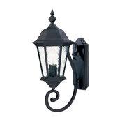 One Light Matte Black Wall Lantern