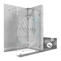 "Fixed Shower Screens With Shell Design, Non-Private, 47 1/2""x75"""