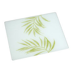 """20""""x16"""" Surface Saver Tempered Glass, Corelle Bamboo Leaf"""