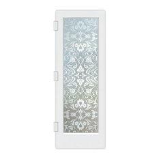 """Interior Door, Floweret, Private Frosted, Primed, 24x80"""", Slab Door"""