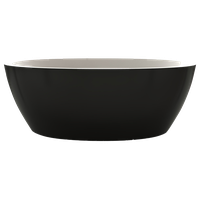 Aquatica Sensuality Mini Freestanding Solid Surface Bathtub, Black/White