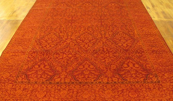 Red Over-Dyed Ziegler Rug