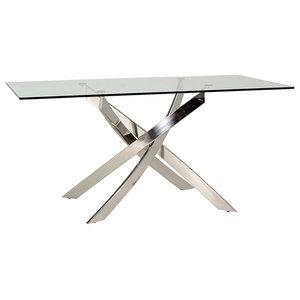 Kalmar Glass Dining Table, Rectangular