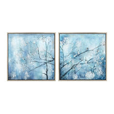 """2-Piece """"Winterset"""" Framed Oil Painting"""