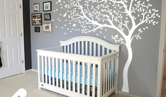 White tree nursery wall decoration
